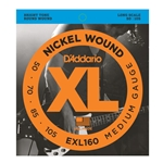 D'Addario EXL160 XL 50-105 Long Scale 4-String Bass String Set