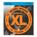 D'Addario EXL160M XL Medium Scale Electric Bass Guitar String Set 50-105