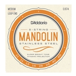 D'Addario EJS74 Mandolin Stainless Steel String Set