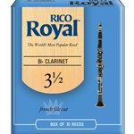 Rico Royal RCB1035 Bb Clarinet #31/2 Reeds Box of 10