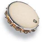 "Latin Percussion CP391 Tunable 10"" Wood Tambourine"