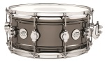 "Drum Workshop Design Series 6.5""X14"" Black over Brass Snare Drum (DDSD6514BNCR)"