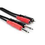 "Hosa CPR202 Dual RCA to Dual 1/4"" Patch Cable"