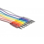 "Hosa CPP830 1ft 8 Pack 1/4"" TS to 1/4"" TS Patch Cables"