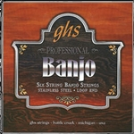 GHS PF120 6-String Banjo Stainless Loop End String Set 11-45