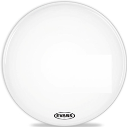 "Evans BD28MX1W 28"" MX1 Marching Bass Drum Head White"