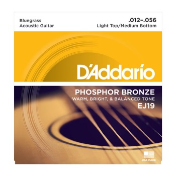D'Addario EJ19 Phosphor Bronze Bluegrass Acoustic Guitar String Set