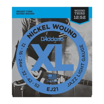 D'Addario EJ21 Nickel Wound Jazz Light Electric Guitar String Set