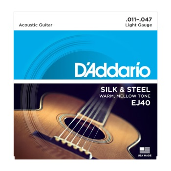 D'Addario EJ40 Silk & Steel Light Acoustic Guitar String Set