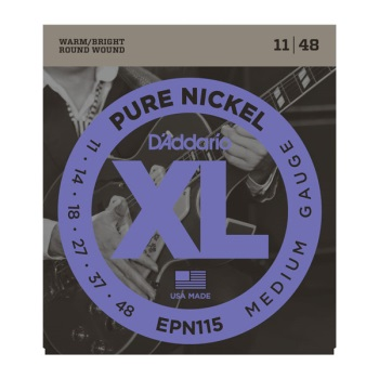 D'Addario EPN115 Pure Nickel Blues/Jazz Rock Electric Guitar String Set