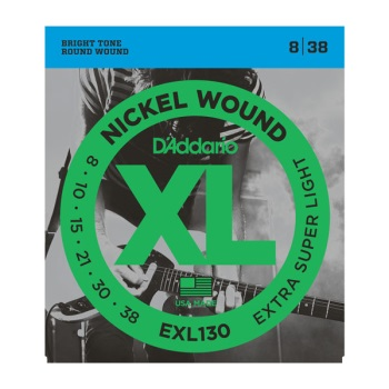 D'Addario EXL130 Nickel Wound Extra-Super Light Electric Guitar String Set