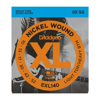 D'Addario EXL140 Nickel Wound Light Top/Heavy Bottom Electric Guitar String Set