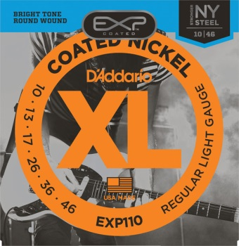 D'Addario EXP110 Coated Nickel Light Electric Guitar String Set