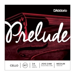 D'Addario J101034M Prelude Cello String Set 3/4 Size