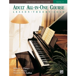 Alfred AL0014540 Alfred's Basic Adult All-in-One Piano Course Book 3