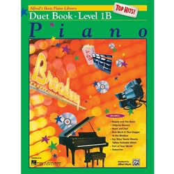 Alfred AL0017165 Alfred's Basic Piano Course Top Hits! Duets Book 1B