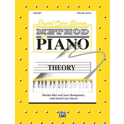David Carr Glover Method for Piano. Theory Book Pre-Reading; AL00FDL01000
