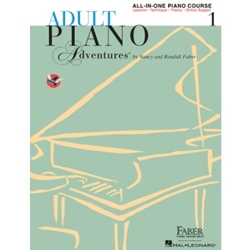 Faber Adult Piano Adventures All-In-One Lesson Book 1; FF1302