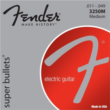 Fender 3250 Super Bullets Medium Electric Guitar String Set