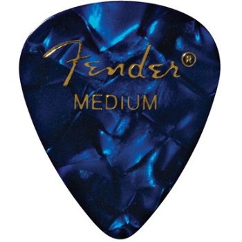 Fender 351 Shape Medium Blue Moto Celluloid Pick -12 Pack-