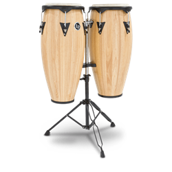 Latin Percussion LP646NY City Oak Conga Set with Stand