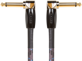 "Boss BIC-PC3 6"" Instrument Cable; Angled to Angled Plug; 3-Pack"