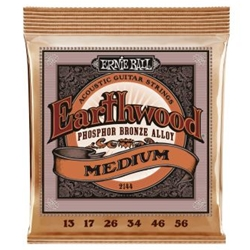 Ernie Ball Earthwood Medium Phosphor Bronze Acoustic Guitar Strings - 13-56 Gauge