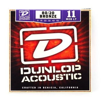 Dunlop 80/20 Bronze Medium/Light Acoustic Guitar String Set