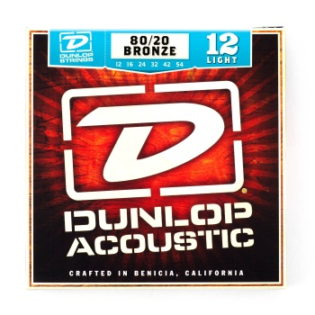 Dunlop 80/20 Bronze Light Acoustic Guitar String Set