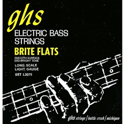GHS L3075 Bright Flats Light Gauge Long Scale Bass Strings