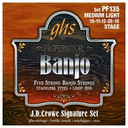 GHS PF140 JD Crowe Light Signature Banjo String Set