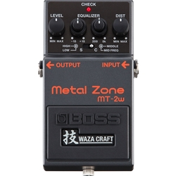 Boss MT-2W Metal Zone WAZA CRAFT Electric Gutiar Effects Pedal