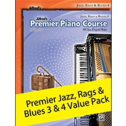 Alfred Premier Piano Course Jazz, Rags, and Blues Books 3 and 4; AL00106362