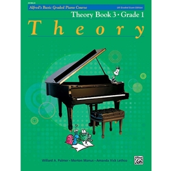 Alfred's Basic Graded Piano Course, Theory Book 3 Grade 1; 20186UK